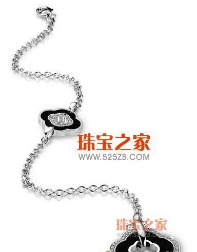 黑色款钻石玛瑙手链