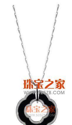 黑色款钻石玛瑙项坠