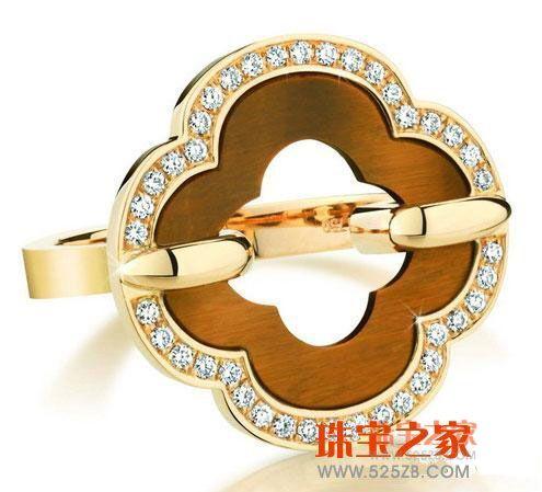 木变石钻石戒指