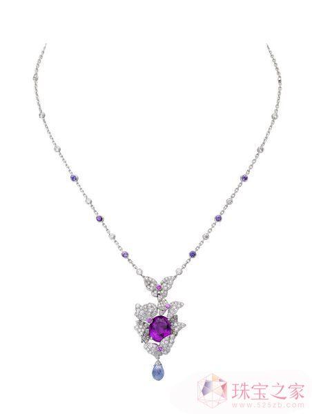 钻石红宝石项链